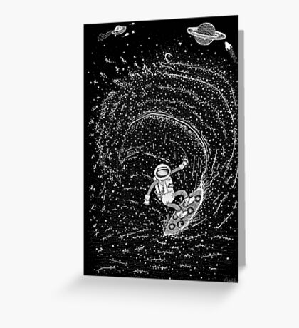 Surfing the Stars Greeting Card