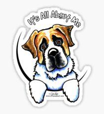 Saint Bernard :: Its All About Me Sticker