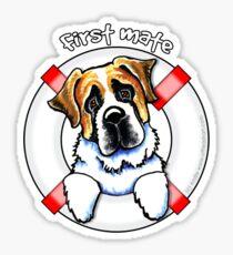 Saint Bernard :: First Mate Sticker
