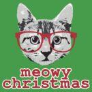 Funny Christmas - Meowy Christmas by robotface