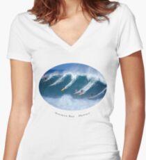 Waimea Bay Full Flight T-Shirt  Women's Fitted V-Neck T-Shirt