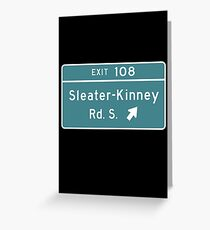 Sleater-kinney Intersection Greeting Card