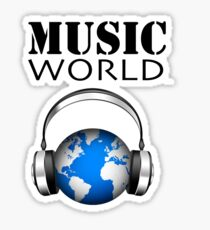 MUSIC WORLD Sticker