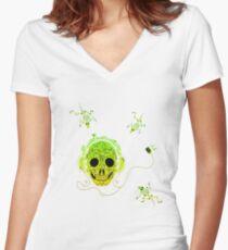 MUSIC Women's Fitted V-Neck T-Shirt