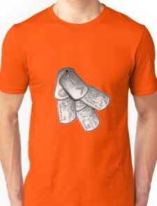 battlefield dogtags Unisex T-Shirt