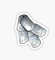 battlefield dogtags Sticker