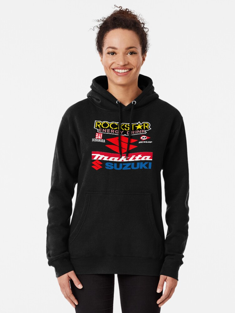 Alternate view of Rockstar Energy Makita Yoshimura Suzuki Racing Team Pullover Hoodie