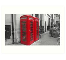London Phonebox Art Print