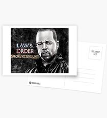 Fin Tutuola from Law and Order svu Postcards