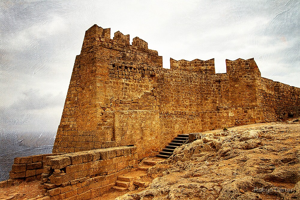 The Acropolis of Lindos by Robyn Carter