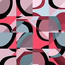 Nouveau Retro Graphic Red Black and Gray by Anthony Ross