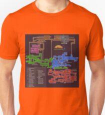 Camiseta unisex Mapa de Super Metroid