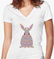 Colourful Jackalope Women's Fitted V-Neck T-Shirt