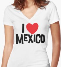 I Love Mexico Women's Fitted V-Neck T-Shirt