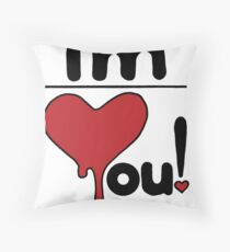 i'm over you! Throw Pillow