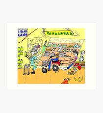 Shopping, The adventures of Primo and Ada Art Print