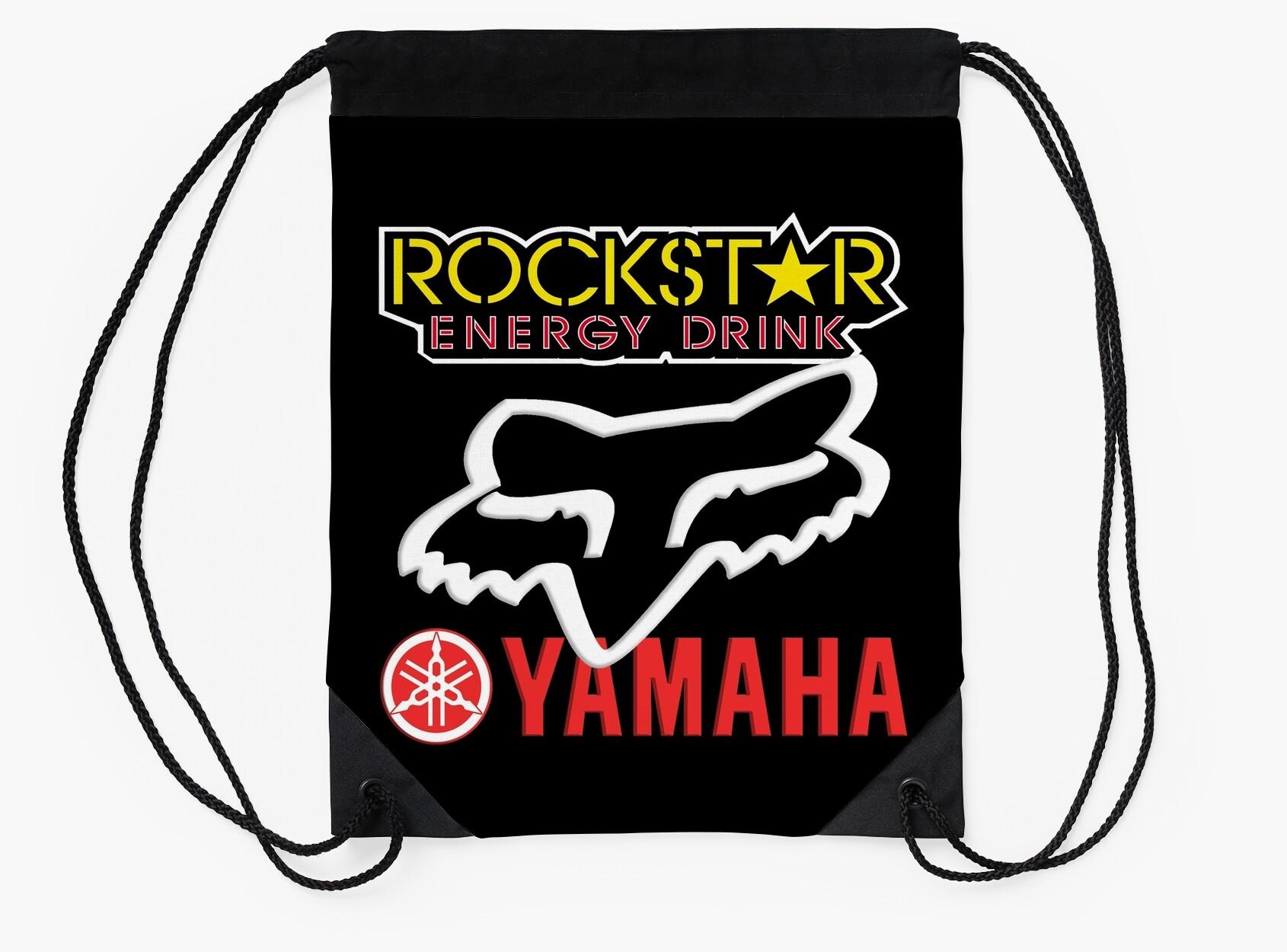 Rockstar energy yamaha fox racing drawstring bags by bebearts rockstar energy yamaha fox racing buycottarizona Gallery