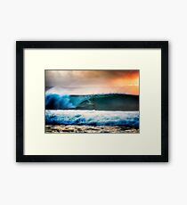 Surfing Indonesia  Framed Print