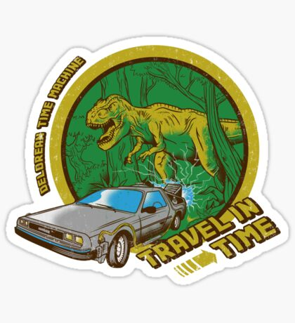 Travel in Time Sticker