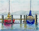 Yachts at Margate Marina - Tasmania by Paul Gilbert