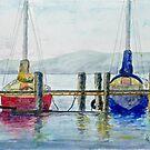 Yachts at Margate Marina - Tasmania by Paul Gilbert