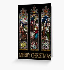 Merry Christmas - Stained Glass Window Greeting Card