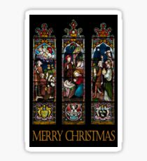 Merry Christmas - Stained Glass Window Sticker