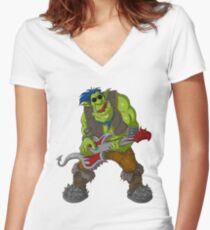 Rocker 1 Women's Fitted V-Neck T-Shirt