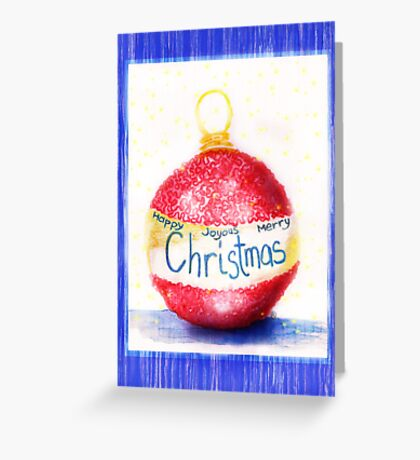 Christmas Bauble Card Greeting Card