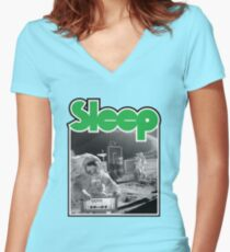 Camiseta entallada de cuello en V Dormir