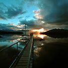 Sunset At Lake Te Anau. South Island, New Zealand. (2) by Ralph de Zilva