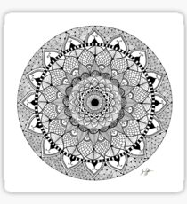 Black Ink Zen Mandala Sticker