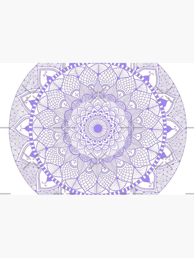 Lila Boho Zentangle Mandala von JennyGollan
