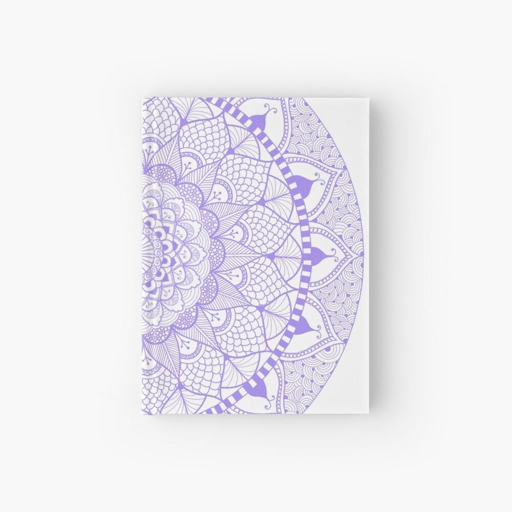 Lila Boho Zentangle Mandala Notizbuch