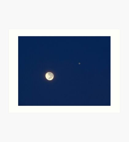 Moon And Jupiter Art Print