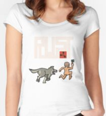 Rust players be like Women's Fitted Scoop T-Shirt