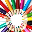 Rainbow of Colored Pencil Points 2 by pjwuebker