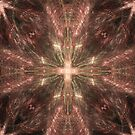 Radiating Gold Cross Abstract by pjwuebker