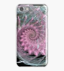 Pink Swirl With Green Highlights iPhone Case/Skin