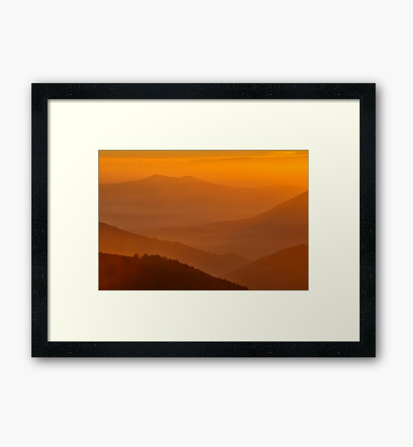 Photo prints : Sunrise from Climont
