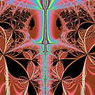 Pink Nightgown With Rainbow Laser Abstract by pjwuebker