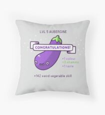 Aubergine Throw Pillow
