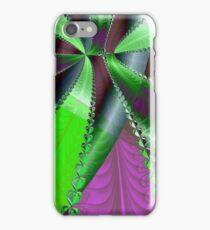 Infinite Green Ribbon Over Purple iPhone Case/Skin