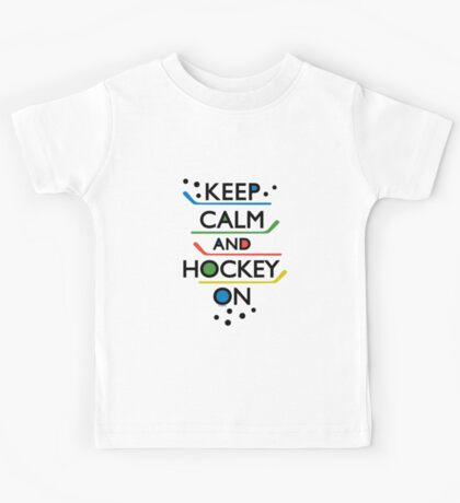 Keep Calm and Hockey On - white Kids Clothes
