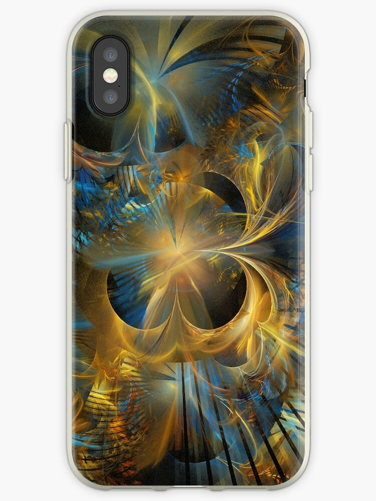 Golden Black Hole Abstract by pjwuebker