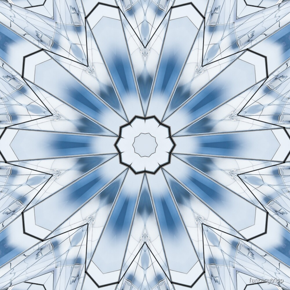 Blue Lines 12 Kaleidoscope by fantasytripp
