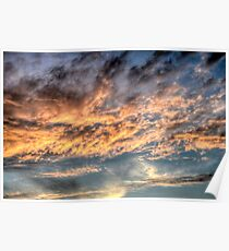 Sunset over New Providence Island (Nassau) in The Bahamas Poster