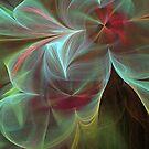 Blue and Yellow Swirls by pjwuebker