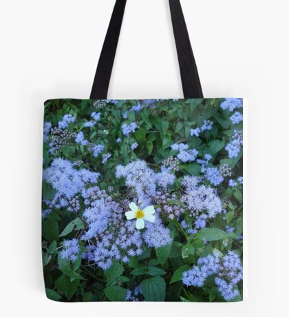 Wild Ageratum and Bidens alba (He loves me, he loves me not) Tote Bag