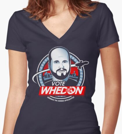 Vote Whedon  Women's Fitted V-Neck T-Shirt